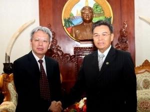 Kantor MN Vietnam –Laos bekerjasama di bidang teknologi-informasi - ảnh 1