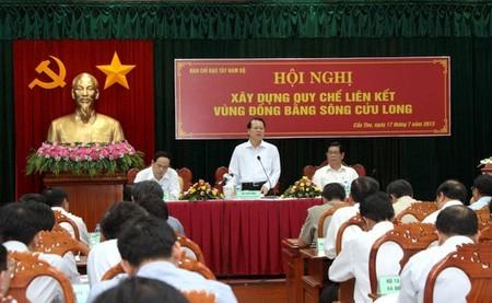 Menyusun peraturan konektivitas daerah dataran rendah sungai Mekong - ảnh 1