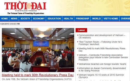 Gabungan asosiasi persahabatan Vietnam melakukan upacara unjuk muka Koran elektronik spesialis Thoi Dai - ảnh 1