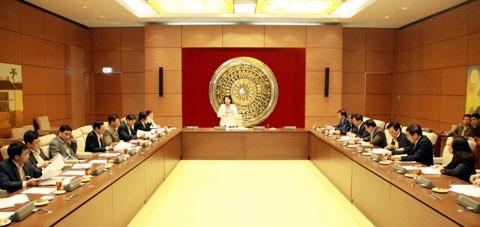 Sidang pertama Sub komisi tentang personalia dan penanganan pengaduan serta gugatan Dewan Pemilihan Nasional - ảnh 1