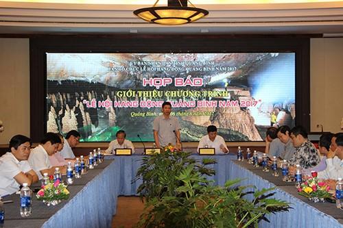 Jumpa pers memperkenalkan program Festival Gua Quang Binh tahun 2017 - ảnh 1
