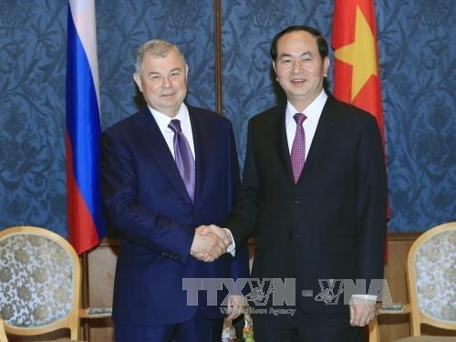 Presiden Vietnam, Tran Dai Quang berkunjung di kota Saint Peters Burg, Federasi Rusia - ảnh 1
