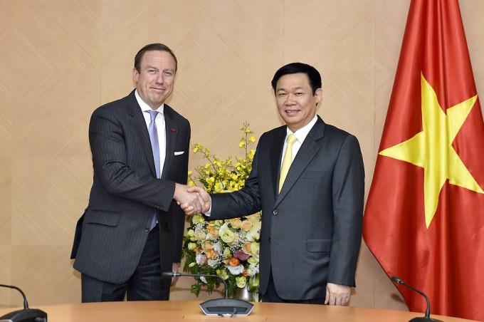 Deputi PM Vietnam, Vuong Dinh Hue menerima Asosiasi Badan Usaha Eropa - ảnh 1