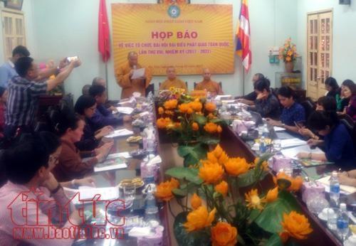 Jumpa pers memperkenalkan Kongres ke- VIII Perwakilan Nasional Shangha Buddha Vietnam - ảnh 1