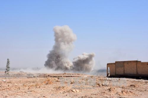 IS melakukan serangan bom bunuh diri di Suriah Timur - ảnh 1
