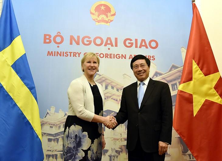 Vietnam dan Swedia mendorong penggalangan hubungan kemitraan Strategis Instansi - ảnh 1