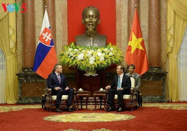 Presiden Tran Dai Quang menerima Deputi PM Slovalia, Peter Pellegrini - ảnh 1