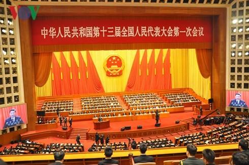 Persidangan pertama Kongres Rakyat Nasional Tiongkok angkatan XIII berakhir - ảnh 1