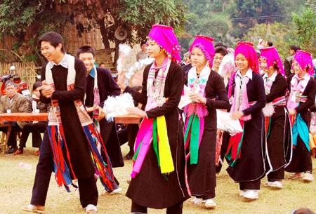Warga etnis minoritas La Ha dengan  Pesta Hoa Mang - ảnh 1