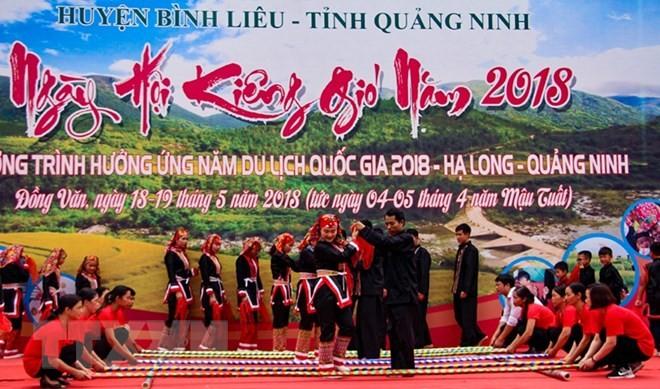 """Pesta  """"Memantangi angin"""" dari orang etnis Dao Thanh Phan di  Provinsi Quang Ninh - ảnh 1"""