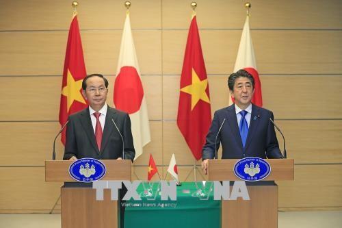 Presiden  Vietnam, Tran Dai Quang mengakhiri dengan baik kunjungan kenegaraan di Jepang - ảnh 1