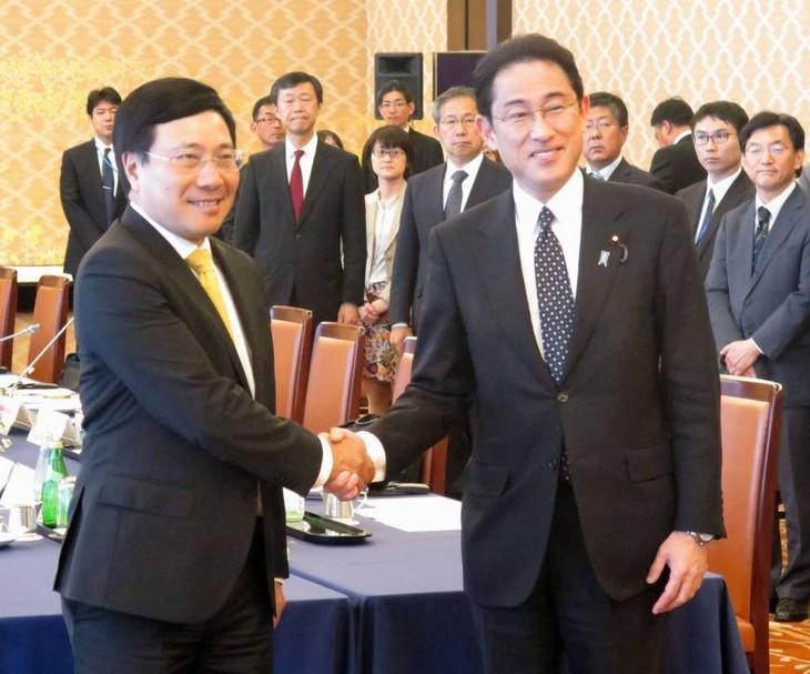 Deputi PM Pham Binh Minh menilai tinggi bantuan Jepang terhadap Vietnam dalam proses perkembangan sosial-ekonomi Vietnam - ảnh 1