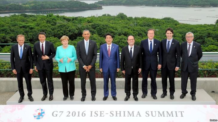 Pemimpin G-7 akan menimbulkan tekanan terhadap AS tentang masalah tarif impor - ảnh 1