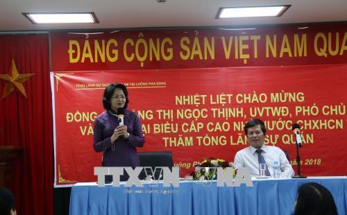 Wapres Dang Thi Ngoc Thinh mengakhiri dengan baik kunjungan remsi di RDR Laos - ảnh 1