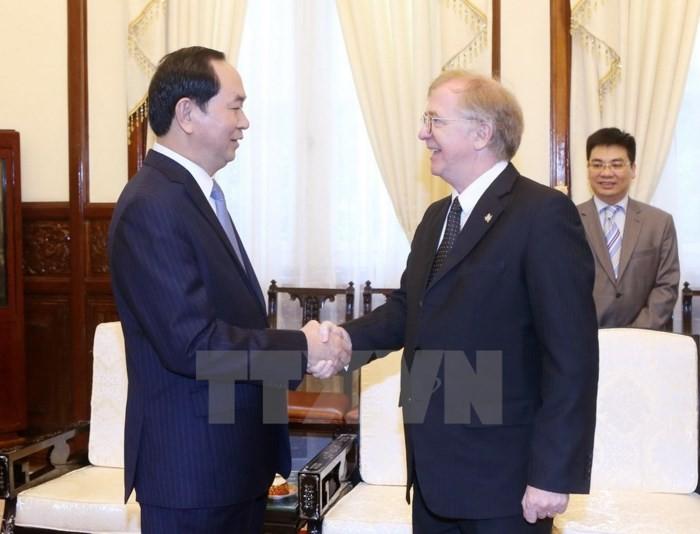 Presiden Vietnam, Tran Dai Quang menerima Dubes Kanada dan Belgia - ảnh 1
