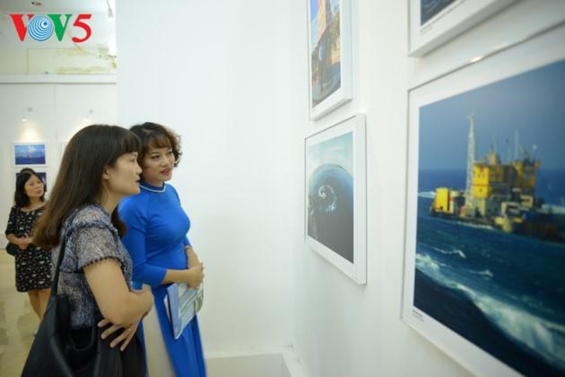 """Kecintaan laut dan pulau berhimpun dalam pameran """"Truong Sa dalam hati kita"""" - ảnh 9"""
