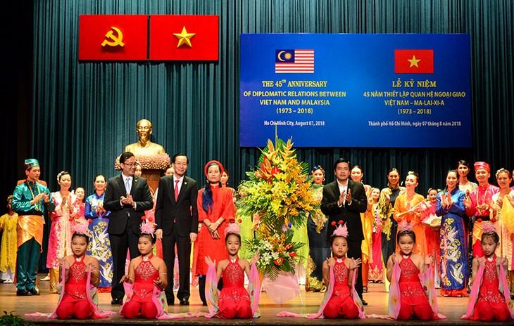 Kota Ho Chi Minh memperingati ultah ke-45 penggalangan hubungan diplomatik Vietnam-Malaysia - ảnh 1