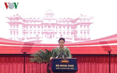 Ketua MN Viet Nam, Nguyen Thi Kim Ngan menghadiri sidang pleno pekerjaan Diplomasi MN pada periode integrasi internasional - ảnh 1
