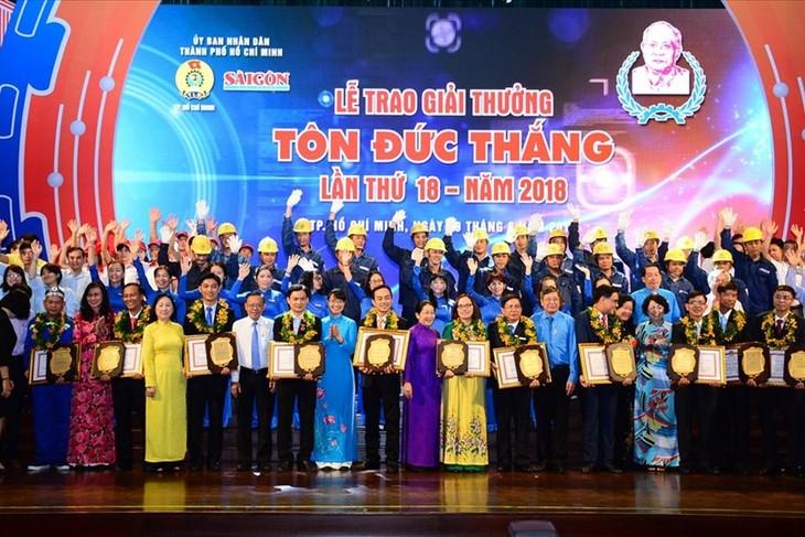 Penghargaan Ton Duc Thang : Banyak gagasan, perbaikan teknik menciptakan nilai sebanyak miliaran VND - ảnh 1