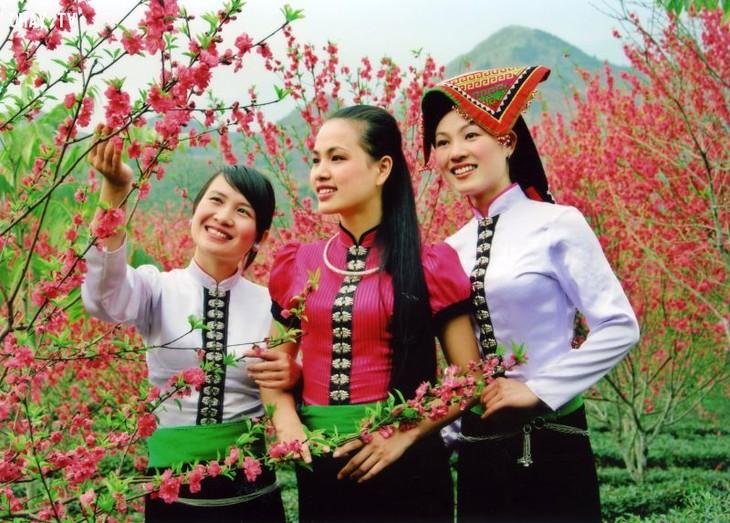 Busana tradisional dari perempuan Provinsi Son La yang berwarna-warni - ảnh 1
