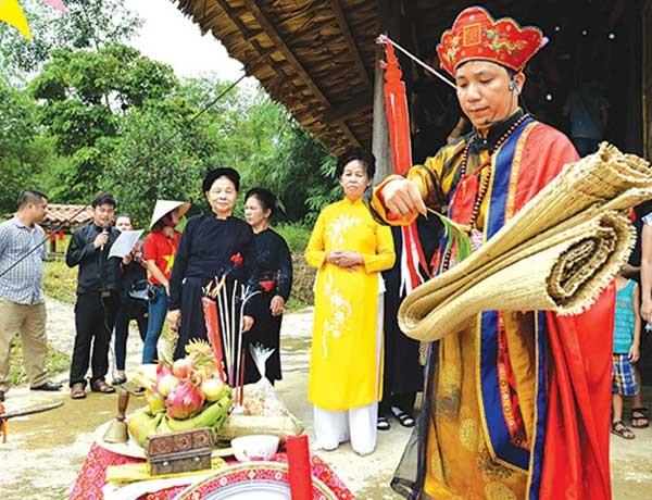 Upacara Cap Sac dari warga etnis minoritas Pa Then di Provinsi Ha Giang - ảnh 1