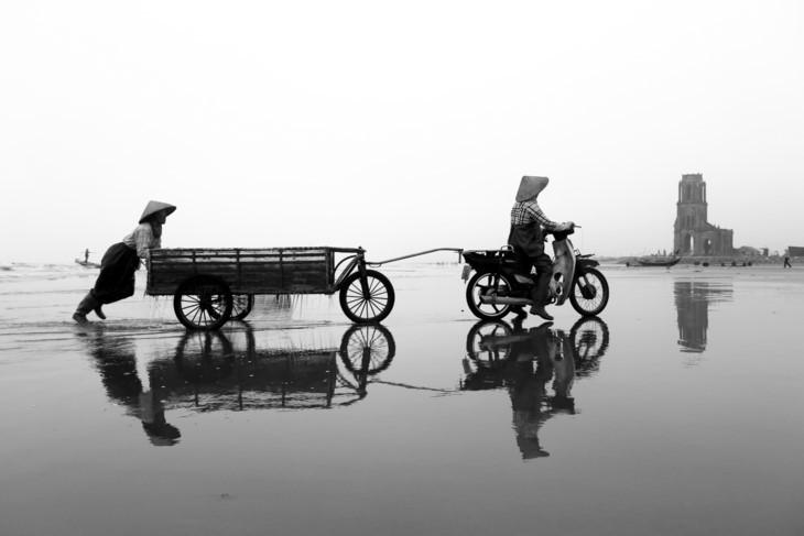Memandangi kecantikan wanita Vietnam ketika sedang bekerja - ảnh 6