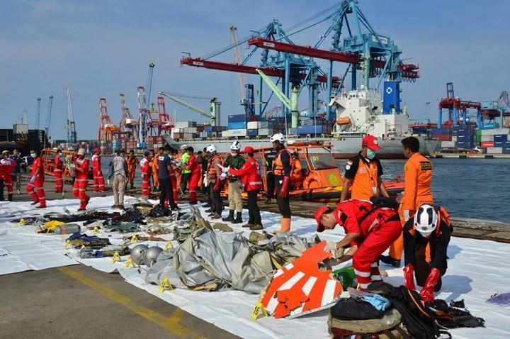 Pekerjaan pencarian dan pertolongan para korban kecelakaan pesawat terbang JT 610 jatuh di laut - ảnh 1