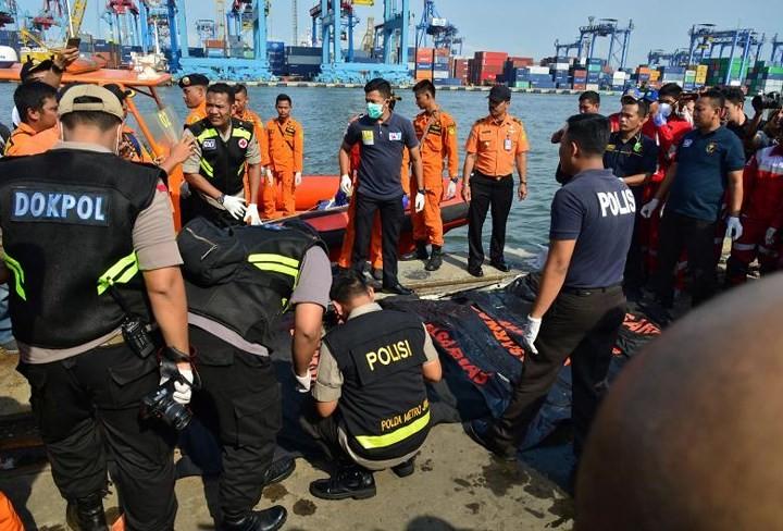 Pekerjaan pencarian dan pertolongan para korban kecelakaan pesawat terbang JT 610 jatuh di laut - ảnh 5