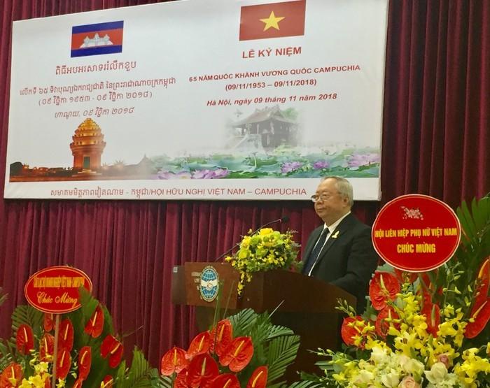 Memperingkati ultah ke-65 Hari Nasional Kerajaan Kamboja - ảnh 1