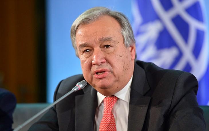 Sekjen PBB menegaskan dukungan terhadap rakyat Palestina - ảnh 1