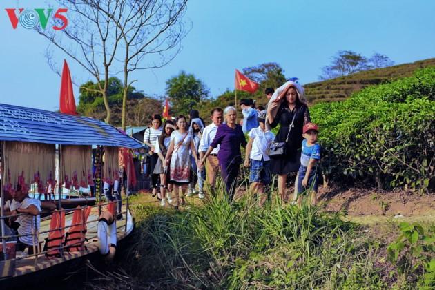 Pulau teh Thanh Chuong menyerap kedatangan wisatawan sehubungan dengan Hari Raya Tet - ảnh 6