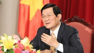 VOV interviews State President Truong Tan Sang  - ảnh 1