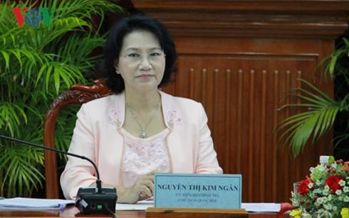 National Assembly Chairwoman meets Vietnamese diplomats - ảnh 1