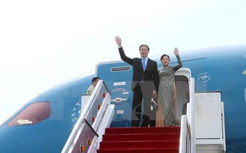 President Tran Dai Quang begins State visit to Singapore - ảnh 1
