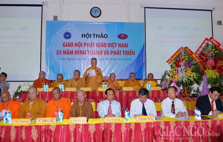 Workshop on 35 years of Vietnam Buddhist Shangha  - ảnh 1