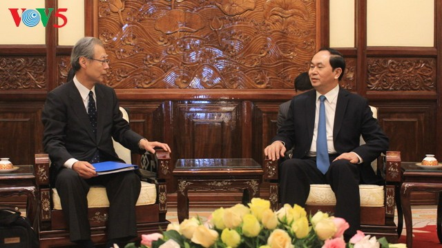 President Tran Dai Quang receives President, Editor-in-Chief of Kyodo News  - ảnh 1