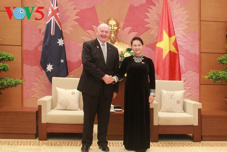 Vietnamese top leaders meet with Governor-General of Australia - ảnh 3