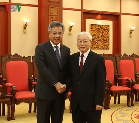 Party leader receives Chinese Vice Premier, Indonesian President - ảnh 1
