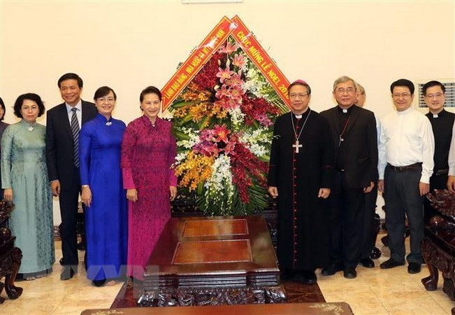 NA leader extends Christmas greetings to Ho Chi Minh City Catholics - ảnh 1