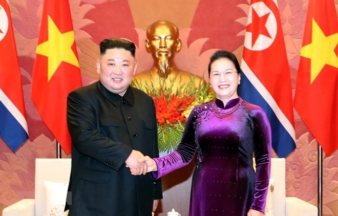 National Assembly Chairwoman meets DPRK Chairman - ảnh 1