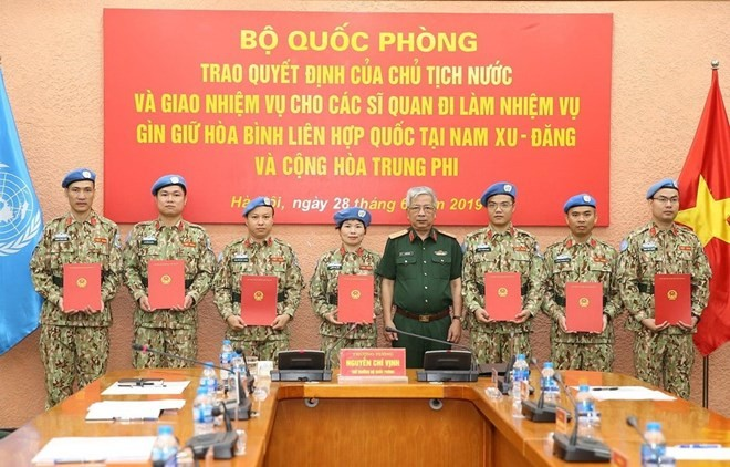 Additional seven Vietnamese officers join UN peacekeeping missions - ảnh 1