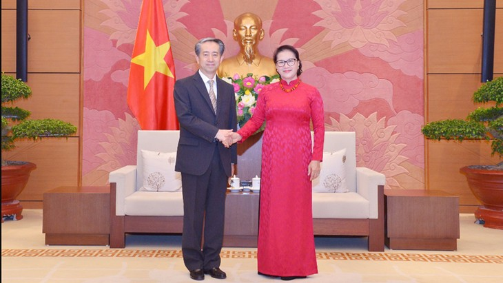 NA Chairwoman receives newly-appointed Chinese Ambassador  - ảnh 1