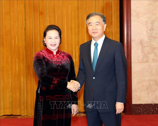 NA Chairwoman meets Chinese People's Political Consultative Conference Chairman - ảnh 1