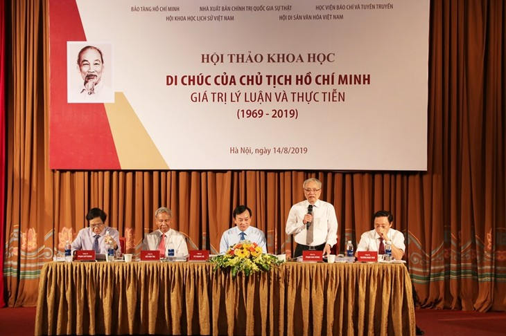 Workshop on scientific, practical values of President Ho Chi Minh's testament - ảnh 1
