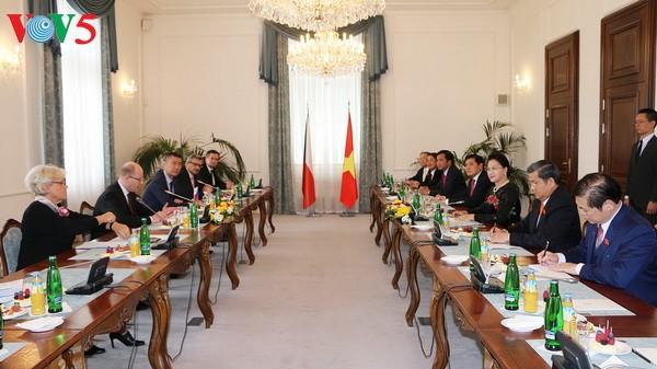 阮氏金银会见捷克总统泽曼和总理索博特卡   - ảnh 1