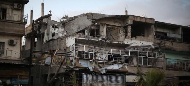 第三批人道主义救援物资抵达叙利亚东古塔区 - ảnh 1