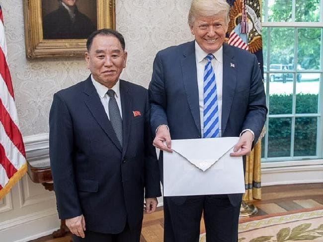 朝鲜领导人金正恩向美国总统特朗普致信 - ảnh 1