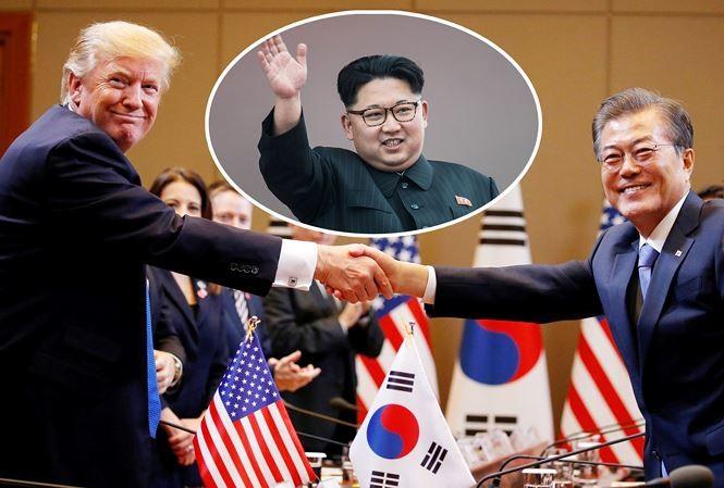 韩美国致同意就朝鲜问题配合行动 - ảnh 1