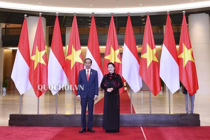 越南国会主席阮氏金银会见印度尼西亚总统佐科 - ảnh 1