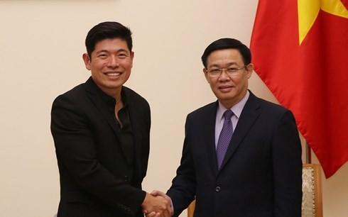 王庭惠副总理会见Grab首席执行官陈炳耀 - ảnh 1
